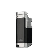 Colibri Tribeca II Triple Torch Lighter Black Chrome - QTR415011 - Cigar Manor