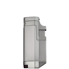 Colibri Tribeca II Triple Torch Lighter Brushed Chrome - QTR415022 - Cigar Manor