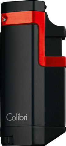 Colibri Tribeca II Triple Torch Lighter Black Red