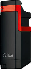 Colibri Tribeca II Triple Torch Lighter Black Red - QTR415024 - Cigar Manor