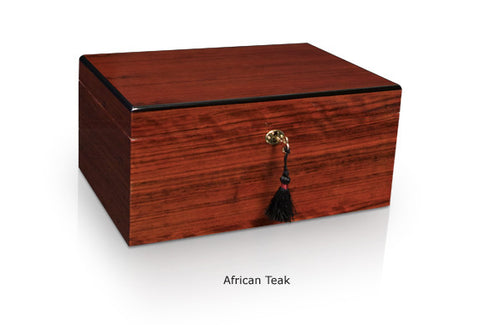 Classic Savoy Humidor African Teak Extra Large - 150 Cigars
