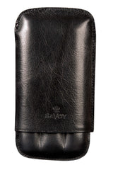 Savoy Cigar Cases Immensa 3 Finger Case Black - GSACB3IM - Cigar Manor