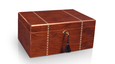 Classic Savoy Humidor Ironwood Marquetry Large - 100 Cigars