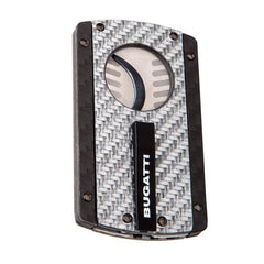 BUGATTI BCC202 Silver and Carbon Fiber Cigar Cutter - BCC-202 - Cigar Manor