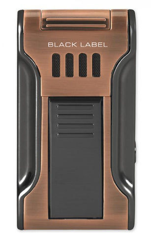 BLACK LABEL Dictator Flat Torch Lighter Brushed Copper & Gun Metal