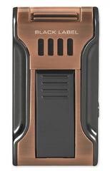 BLACK LABEL Dictator Flat Torch Lighter Brushed Copper & Gun Metal - LBL80030 - Cigar Manor