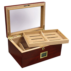 Berkeley Digital 100 Cigar Humidor with Glass Top & External Digital Hygrometer - BRKLY/D - Cigar Manor