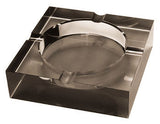 Crystal Cigar Ashtray (tinted) - CA-4C-BLK - Cigar Manor
