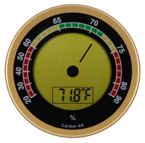 Caliber 4R Digital Hygrometer Gold