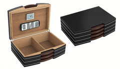 Carlton Satin Black 100 Cigar Humidor