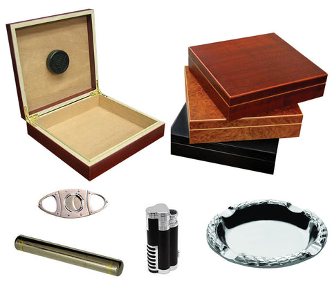 Chateau Cigar Humidor Gift Set