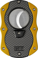 Colibri Monza Cut Cigar Cutter Black + Yellow - CU200T005 - Cigar Manor