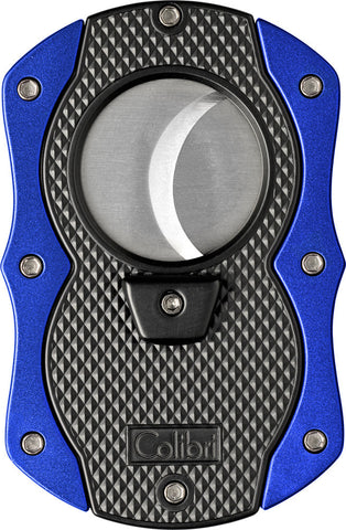Colibri Monza Cut Cigar Cutter Black + Blue