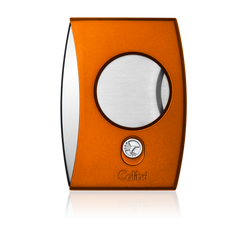 Colibri Eclipse Cutter Anodized Orange + Polished Chrome - CU300D006 - Cigar Manor