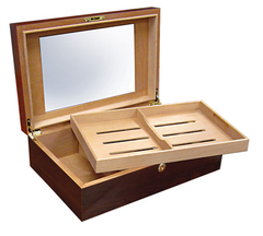 Dalton Walnut 120 Cigar Humidors - DLTN - Cigar Manor