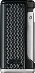 Colibri Monza 3 Lighter Black + Silver - LI100T006 - Cigar Manor