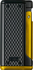 Colibri Monza 3 Lighter Black + Yellow - LI100T007 - Cigar Manor