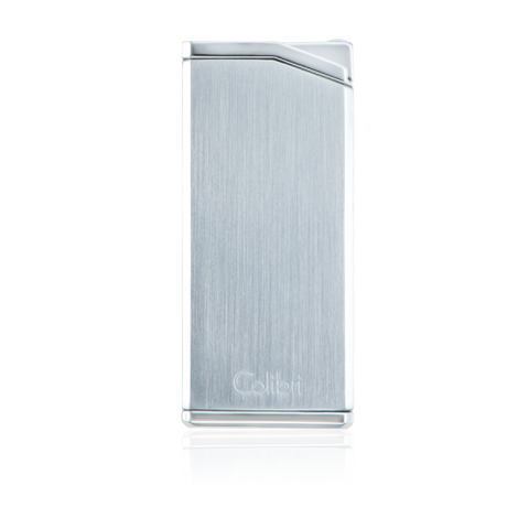 Colibri Delta Soft Flame Lighter Chrome + Gunmetal