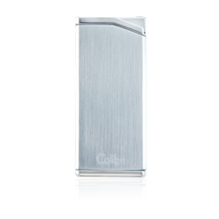 Colibri Delta Soft Flame Lighter Chrome + Gunmetal - LI300C3 - Cigar Manor