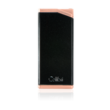 Colibri Delta Soft Flame Lighter Metallic Black + Rose Gold - LI300C4 - Cigar Manor