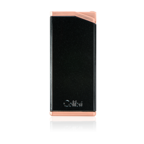 Colibri Delta Soft Flame Lighter Metallic Black + Rose Gold