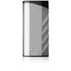 Colibri Torque Double Torch Lighter Silver + Black - LI300T004 - Cigar Manor