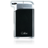 Colibri Pacific Soft Flame Lighter Metallic Black + Polished Chrome - LI400C1 - Cigar Manor