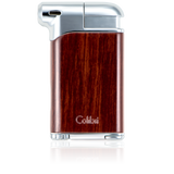 Colibri Pacific Soft Flame Lighter Wood Grain + Polished Chrome - LI400C2 - Cigar Manor