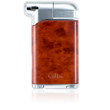 Colibri Pacific Soft Flame Lighter Burl Wood + Polished Chrome - LI400C3 - Cigar Manor