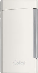 Colibri Voyager Lighter Metallic White - LI400D003 - Cigar Manor