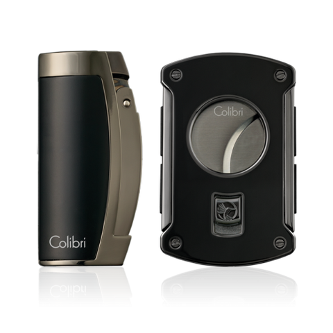 Colibri Enterprise 3 & Slice Cutter Gift Set Black Matte and Gunmetal