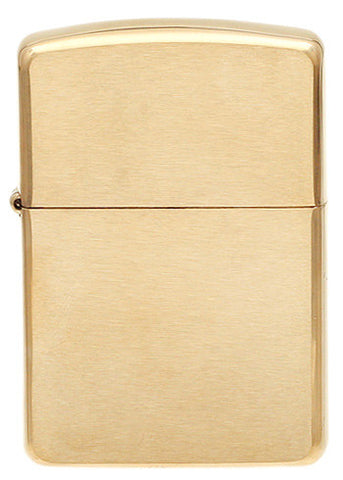 Zippo Lighter Brushed Brass
