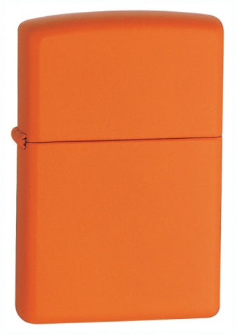Zippo Lighter Orange Matte