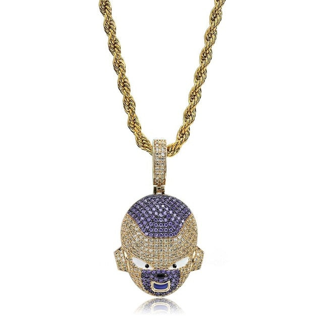Frieza Pendant Necklace Iced Out Chain