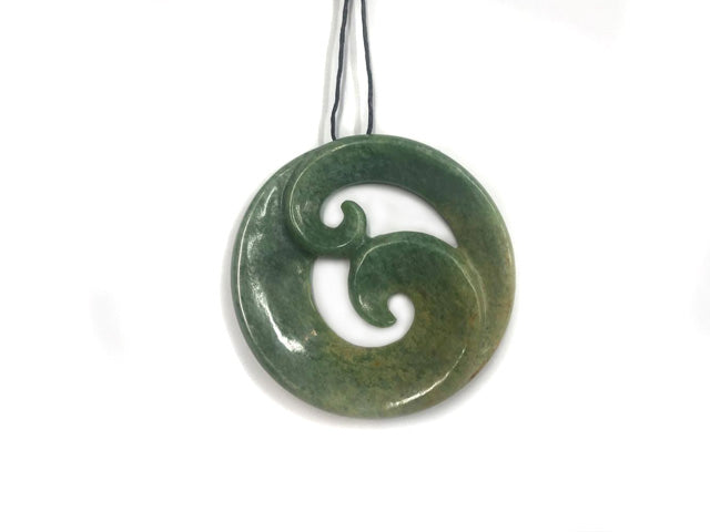 jewelry asp shop jade green koru htm double pendant