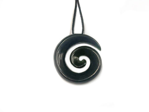 Small Open Koru Pounamu Pendant