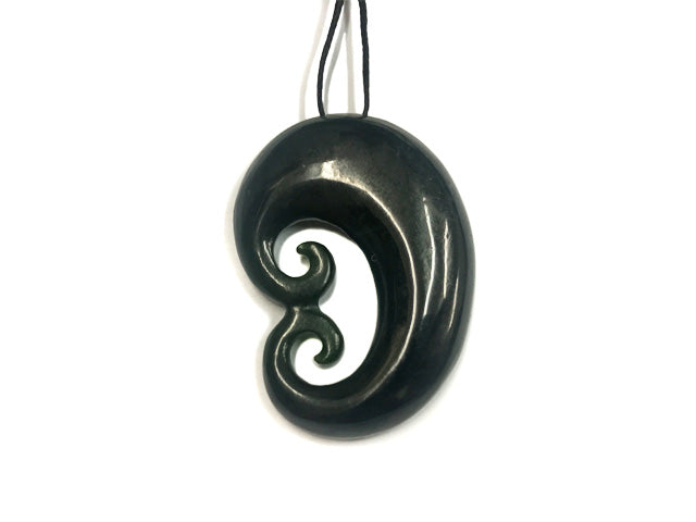 zealand jade flower by products new ross crump pendant carved nz grande hand koru maori