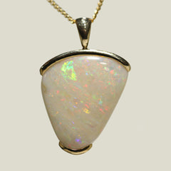 A5213 Solid Opal 9K Gold Pendant