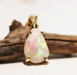 A6952 Solid Opal 9K Gold Pendant