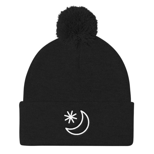 Moonlight pom-pom beanie