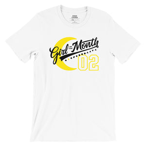 Girl of the Month varsity shirt
