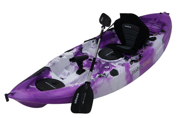 Single Seater Fishing Kayak -Purple/Black/White