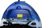 Single Seater Fishing Kayak - Blue/Black/White