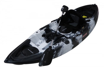 Single Seater Fishing Kayak - Black White