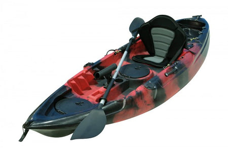 2.7m Dolphin Fishing kayaks black red