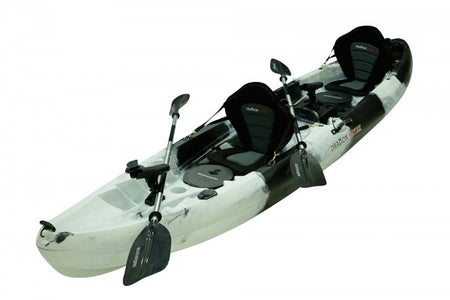 2.5 Seater Family Fishing Kayak- Black White