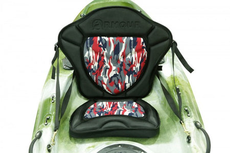 Kayak fishing seat - Pro series Red camo