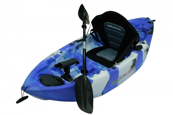 Kids Kayaks - Baby Dragon  Pro Fisher kayak - Blue Camo