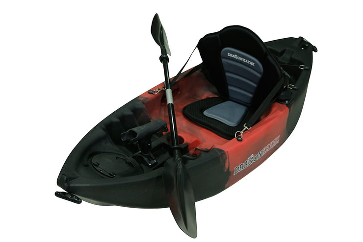 Kids Kayaks - Baby Dragon  Pro Fisher kayak - Red/Black
