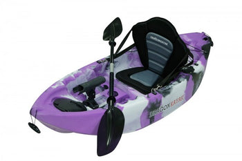 Kids Kayaks - Baby Dragon Pro Fisher kayak - Purple Camo